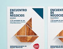 Encuentro de negocios AJE Jaén | Poster & Brochure