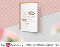 FREE GREETING CARD MOCKUP SET