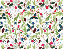 Winter pattern for Sestra Magazine