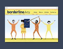Borderline Arts visual identity