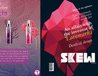 Typography based Magazine Designing -SKEW