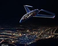 Aircraft Concept Design Aerial V Aircraft Illustration