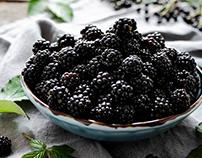 Wild blackberry tartlets