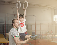 Commercial shooting for gymnastics school
