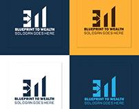 Finance Trade Tax Accounting Grow B_W Logo Design