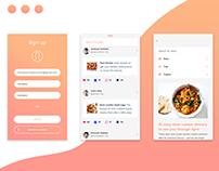 Recipe Sharing Mobile app