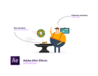 Adobe After Effects animations — Christmas & nectar bee