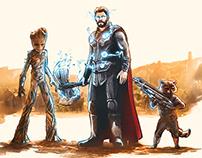 Thor Arrives in Wakanda