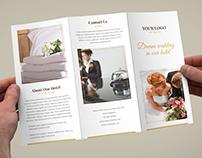 Brochure – Hotel for Wedding Tri-Fold Template