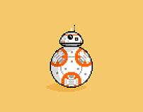 BB-8 Pixel Animation