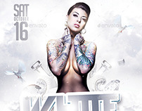 White Party | VIP Dresscode Flyer PSD Template