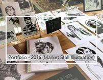 Portfolio: 2016 Illustration (Market Stall)