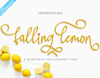Falling Lemon Font