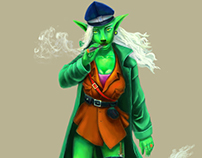 "Character ""Green Girl"", a romantic image of the defende"