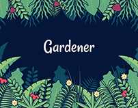 Gardener, UI-UX for a social media application