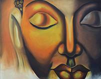 Buddha : Oil on canvas