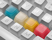 Jelly Hazard V2.0 – Neon artisan keycap