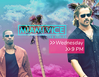 Miami Vice Broadcast Design Concept