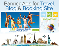 Banner Ads for Travel Blog & Booking Site by Swan Media