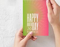 Greeting card. Tarjeta de felicitación.