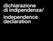 Independence declaration by Carlo Contin
