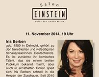 Flyer Design - Café Einstein unter den Linden