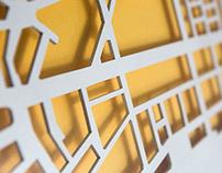 Milan's maps laser cut