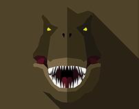 Flat Design Dinosaurs