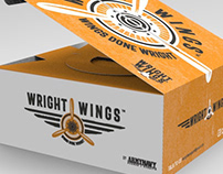 Wright Wings Logo & Packaging Design