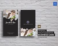 Minimal Photography Business Card