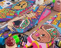 TacoBell Longboard Art