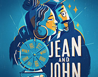 Jean and John Gig Poster