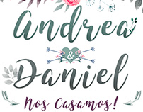 Animated invitation for the wedding of daniel and andre