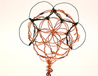Flower of Life Wire Sculpture
