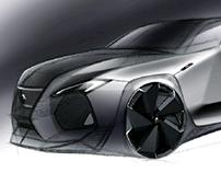 Peugeot hatchback sketch