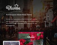 Blumen - Adobe Muse Template