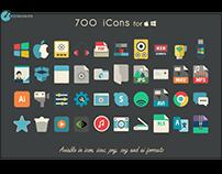 700 flat icons