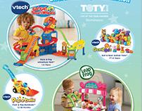 Vtech & LeapFrog Magazine Ads