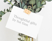 Sui Gen Gifts - Visual Identity + Stationery