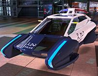 Hover Police Car