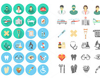 Flat Medical and Healthcare Clip Art