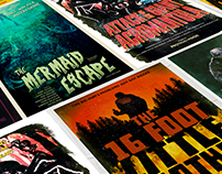 Harry Potter Books seen as B-Movie Posters