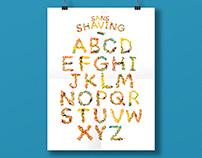 3D Type Image | Sans Shaving