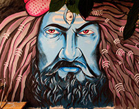 Lord Shiva Mural