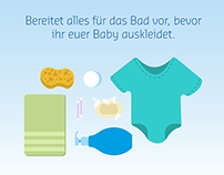 Baby bathing infographic