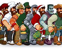 Lumberjack outfits (Beaver Kickin' game)