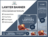 Lawyer Banner- HTML5 Banner Ad Templates