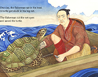 Taro the fishernan saves the sea turtle