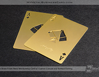 Brass Finish Metal Membership Card - Ace Design