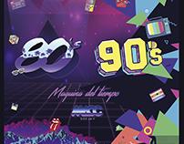 Portada Mix Rock&Pop | 80s - 90s | Maquina del tiempo